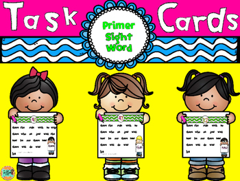 Sight Word Task Cards-Primer-Dolch