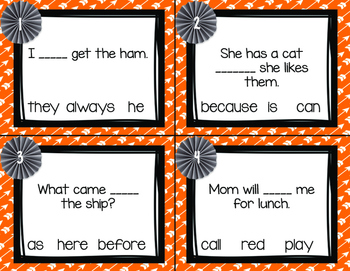 Sight Word Task Cards Second Grade