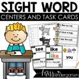 Kindergarten Sight Words Task Cards