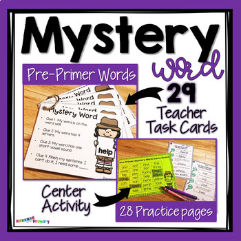 Sight Words Task Cards for Teachers - Pre-primer