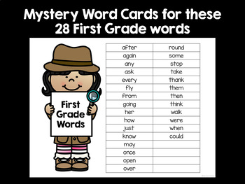 Sight Words Task Cards for Teachers - First Grade