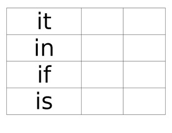 Sight Word Task box/Word work!