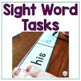 Sight Word Tasks Leveled For Special Education and Hands On Learners