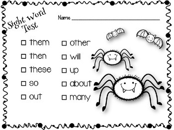 Sight Word Tests Fry 1-300