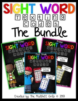 Sight Word Texting Codes (The Bundle)