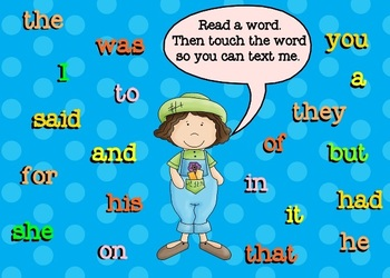Sight Word Texting Dolch List 1  (SMARTBoard Lesson)