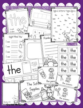 Sight Word of the Week (15 Activities for the word THE)