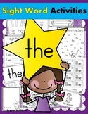 Sight Word THE (15 Activities for the word THE) Sight Word of the Week!
