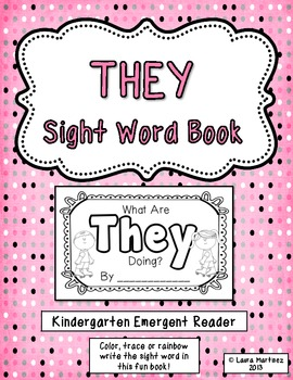 """Sight Word """"They"""" Emergent Reader"""