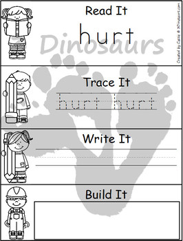 Sight Word Third Grade Read, Trace, Write, Build