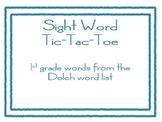 Sight Word Tic-Tac-Toe 1st grade words