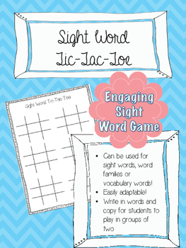 Sight Word Tic-Tac-Toe