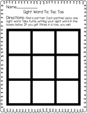 Sight Word Tic Tac Toe