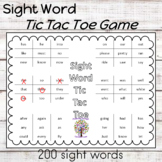 Sight Word Worksheets Tic Tac Toe Game