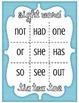 Sight Word Tic Tac Toe Game