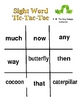 """""""Sight Word Tic-Tac-Toe"""" Games for Literacy Centers"""