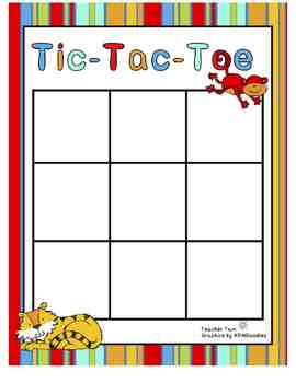 Dollar Deal! Sight Word Tic-Tac-Toe Preschool Kindergarten First Second Third