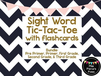 Sight Word Tic Tac Toe with Flashcards- Bundle