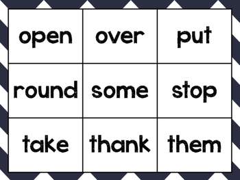 Sight Word Tic Tac Toe with Flashcards- First Grade