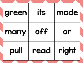 Sight Word Tic Tac Toe with Flashcards- Second Grade