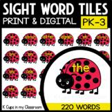 Sight Word Tiles PK-3 LADYBUG Bug Clip Art {Moveable Pieces}