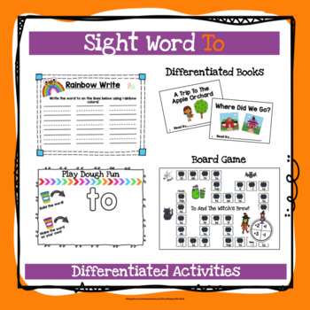 Sight Word To Activities
