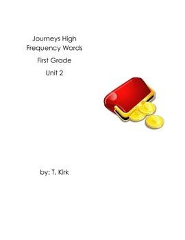 Sight Word Tokens Journeys First Grade Unit 2