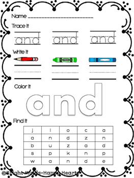 Super Sight Word Practice - List 1