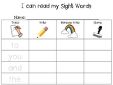 Sight Word Trace, Stamp, Write, Rainbow Write, Read!