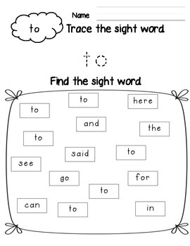 Sight Word Trace and Find Pre-Primer Edition