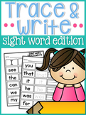 Sight Word Trace and Write