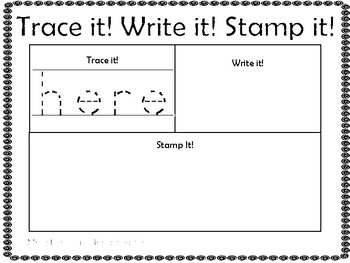 Sight Word Trace it Write it Stamp it - Aligned to Kinder RFR Curriculum
