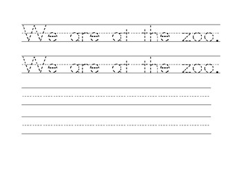 Sight Word Tracer Pages: Set II
