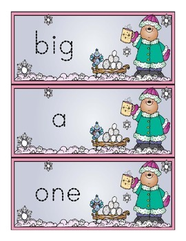 Sight Word Tracing Cards