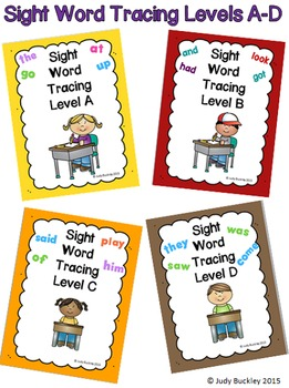 Sight Word Read, Trace and Write Practice Bundle