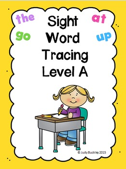Sight Word Tracing Practice Level A