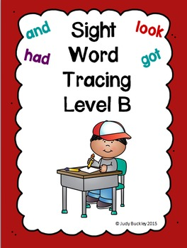 Sight Word Tracing Practice Level B
