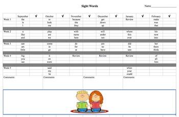 Sight Word Tracker