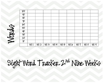 Sight Word Tracker