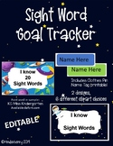 Sight Word Tracker Space EDITABLE