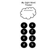 Sight Word Tracker: Teacher College Words