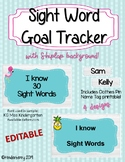 Sight Word Tracker Tropical Shiplap EDITABLE