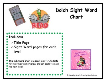 Sight Word Tracking Chart