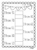 Sight Word Tracking Page