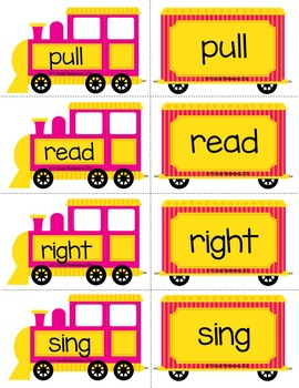 Sight Word Trains~Word Wall, Games and Centers {2nd Grade Words}