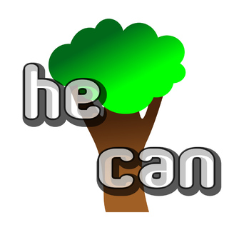 Sight Word Tree: he, can