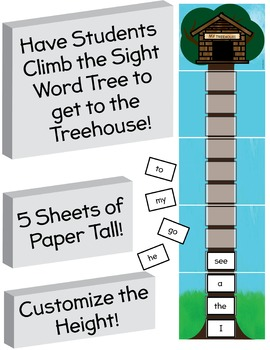CVC and Sight Word Treehouse Game