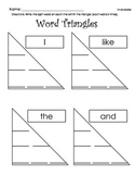 Sight Word Triangles