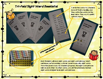 Sight Word Trifold Booklets Level 1