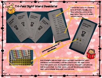 Sight Word Trifold Booklets Level 3